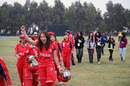 Kristine Wong and the rest of the Hong Kong players are delighted after beating China in the ACC Women's Twenty20 Championships Final in Kuwait on 25th February 2011