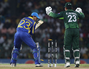 Tillakaratne Dilshan was bowled by Shahid Afridi for 41, Sri Lanka v Pakistan, World Cup, Group A, Colombo, February 26, 2011