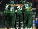 Pakistan celebrate their 11-run victory, Sri Lanka v Pakistan, World Cup, Group A, Colombo, February 26, 2011