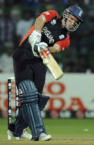 Andrew Strauss got to a half-century at a run a ball, India v England, World Cup, Group B, Bangalore, February 27, 2011