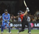 Tim Bresnan clobbered a huge six over midwicket, India v England, World Cup, Group B, Bangalore, February 27, 2011
