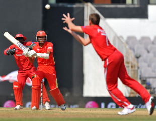 Ray Price takes a return catch to get rid of Nitish Kumar, Canada v Zimbabwe, World Cup, Group A, Nagpur, February 28, 2011