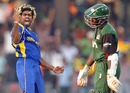 Lasith Malinga sees off Shem Ngoche to complete his hat-trick, Sri Lanka v Kenya, Group A, World Cup 2011, Colombo, March 1, 2011