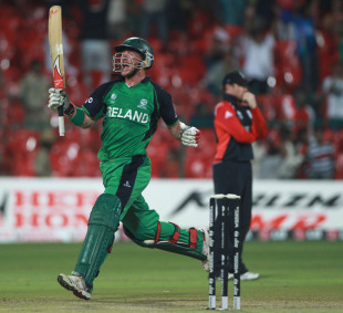 John Mooney secured the record chase to cue wild celebrations, England v Ireland, World Cup 2011, Bangalore, March 2, 2011