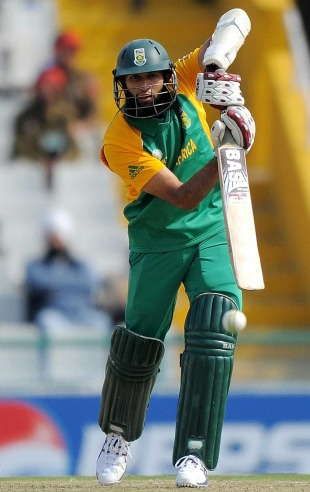 Hashim Amla anchored the South African innings, Netherlands v South Africa, World Cup 2011, Mohali, March 3, 2011