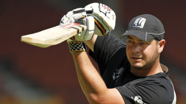 Jesse Ryder has a bat during New Zealand's training session