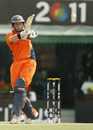 Wesley Barresi pulls the ball during his knock of 44, Netherlands v South Africa, World Cup 2011, Mohali, March 3, 2011