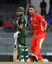 Harvir Baidwan celebrates the dismissal of Ahmed Shehzad, Canada v Pakistan, Group A, World Cup 2011, Colombo, March 3, 2011