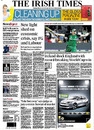 Ireland's win against England makes it to the front page of the <i>Irish Times</i> , England v Ireland, Group B, World Cup, Bangalore, March 2, 2011