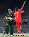 Harvir Baidwan gets rid of Saeed Ajmal, Canada v Pakistan, Group A, World Cup 2011, Colombo, March 3, 2011