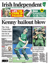 Ireland's World Cup win over England made the front page of the <i>Irish Independent</i>, England v Ireland, Group B, World Cup, Bangalore, March 2, 2011