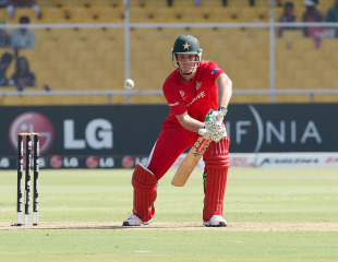 Brendan Taylor was the only Zimbabwe batsman who showed resistance, New Zealand v Zimbabwe, Group A, World Cup 2011, Motera, March 4, 2011