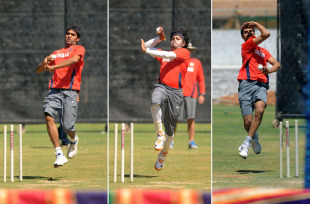 A comparison of India's seamers' bowling actions, Bangalore, March 5, 2011
