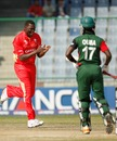 Henry Osinde celebrates Maurice Ouma's wicket, Canada v Kenya, Group A, World Cup, Delhi, March 7, 2011