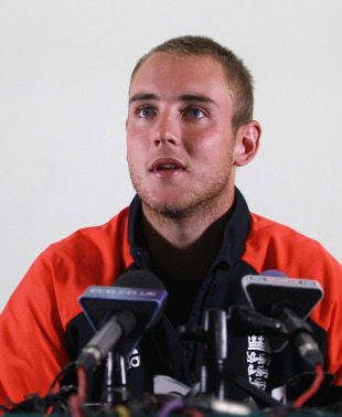 Stuart Broad addresses the media, Chittagong, March 8, 2011