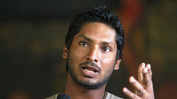 Kumar Sangakkara speaks at a UNAIDS campaign in Kandy