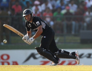 Ross Taylor flicks on to the leg side, New Zealand v Pakistan, Group A, World Cup, Pallekele, March 8, 2011