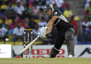 Ross Taylor smashes one to the off side during his century, New Zealand v Pakistan, Group A, World Cup, Pallekele, March 8, 2011