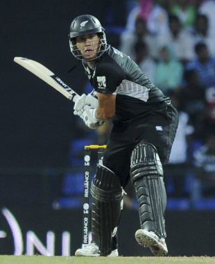 Ross Taylor lines up a shot, New Zealand v Pakistan, Group A, World Cup, Pallekele, March 8, 2011