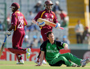Shivnarine Chanderpaul and Devon Smith gave West Indies a slow but steady start