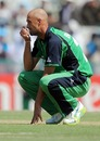 Andre Botha reacts as Kieron Pollard goes out of control, Ireland v West Indies, Group B, World Cup, Mohali, March 11, 2011