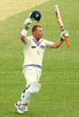David Warner celebrates his maiden first-class century