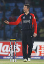 Graeme Swann lost his temper as the dewy conditions played havoc with his grip