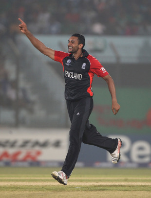 Ajmal Shahzad took three wickets but it wasn't enough for England, Bangladesh v England, Group B, World Cup, Chittagong, March 11, 2011