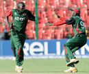 Jimmy Kamande celebrates the wicket of Cameron White, Australia v Kenya, World Cup 2011, Group A, Bangalore, March 13, 2011