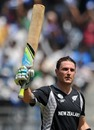 Brendon McCullum celebrates his ton against Canada, Canada v New Zealand, Group A, World Cup 2011, Mumbai, March 13 2011