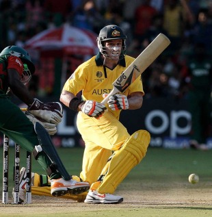 Michael Hussey hit 54 on his return to Australia's side, Australia v Kenya, World Cup 2011, Group A, Bangalore, March 13, 2011