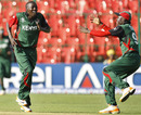Jimmy Kamande celebrates Cameron White's wicket in unique fashion, Australia v Kenya, World Cup 2011, Group A, Bangalore, March 13, 2011