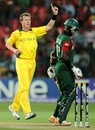 Brett Lee quickly removed Maurice Ouma, Australia v Kenya, World Cup 2011, Group A, Bangalore, March 13, 2011