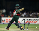 Alex Obanda has his stumps splayed by Shaun Tait, Australia v Kenya, World Cup 2011, Group A, Bangalore, March 13, 2011