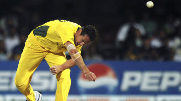 Shaun Tait in his distinctive follow-through