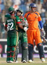 Mushfiqur Rahim and Imrul Kayes celebrate Bangladesh's six-wicket victory, Bangladesh v Netherlands, Group B, World Cup 2011, Chittagong, March 14, 2011