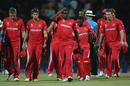 Zimbabwe's players look forlorn after their fourth loss of this World Cup, Pakistan v Zimbabwe, World Cup, Pallekele, March 14, 2011