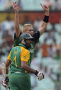 Boyd Rankin celebrates after dismissing Hashim Amla