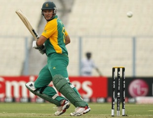 Graeme Smith plays the ball behind point, Ireland v South Africa, Group B, World Cup, Kolkata, March 15, 2011