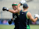 Trent Johnston trains ahead of the clash against South Africa