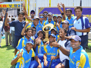 Bengal won the 2011 Syed Mushtaq Ali Trophy with a victory one-run victory over Madhya Pradesh in Hyderabad