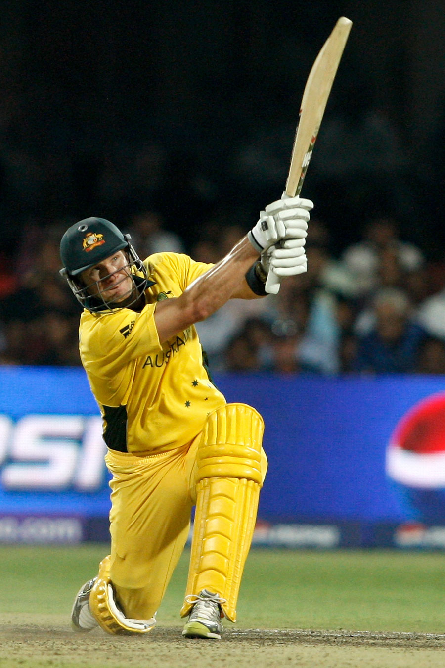 Shane Watson plays the slog-sweep