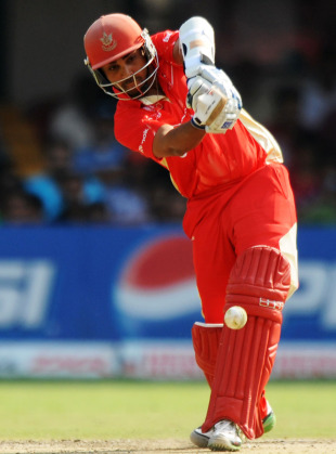Ashish Bagai drives during his 39, Australia v Canada, Group A, World Cup, Bangalore, March 16, 2011