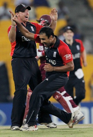Ravi Bopara struck twice with his medium pace, England v West Indies, World Cup, Group B, March 17, 2011