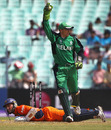 Atse Buurman is run out for 26, Ireland v Netherlands, World Cup 2011, Group B, March 18, 2011
