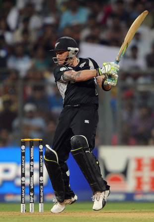 Brendon McCullum started New Zealand's chase positively, New Zealand v Sri Lanka, Group A, World Cup 2011, Mumbai, March 18, 2011