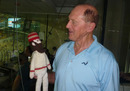 Geoff Boycott meets an England cricketer from a different era: WG Grace, World Cup 2011, Chennai, March 17, 2011