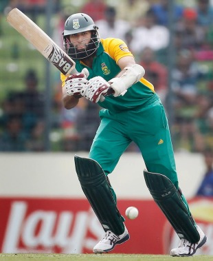 Hashim Amla made his third fifty-plus score of the tournament, Bangladesh v South Africa, Group B, World Cup 2011, Mirpur, March 19, 2011