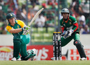 Morne van Wyk plays a sweep, Bangladesh v South Africa, Group B, World Cup 2011, Mirpur, March 19, 2011