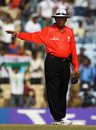 Umpire Asoka de Silva signals a no-ball, India v New Zealand, World Cup warm-up, Chennai, February 16, 2011